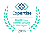 Best Criminal Defense Lawyers in Washington DC award, 2016